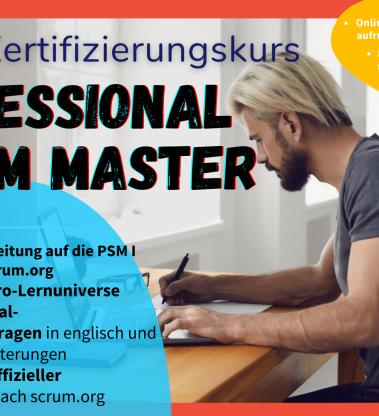 Online-Vorbereitungs-Kurs auf die Professional Scrum Master Zertifizierung